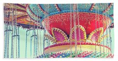 Hand Towel featuring the photograph Rainbow Swings by Melanie Alexandra Price