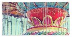 Bath Towel featuring the photograph Rainbow Swings by Melanie Alexandra Price