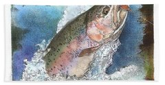 Rainbow Trout Hand Towel