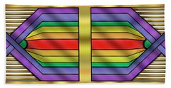 Hand Towel featuring the digital art Rainbow Wall Hanging Horizontal by Chuck Staley