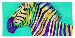 Rainbow Zebra 2013 Bath Towel by Jane Schnetlage