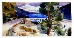 Rainbowbridge Above Donner Lake Hand Towel