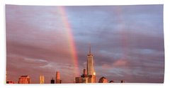 Rainbows In Nyc Hand Towel