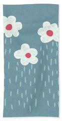 Raining Flowery Clouds Hand Towel