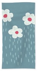 Raining Flowery Clouds Bath Towel