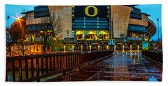 Rainy Autzen Stadium Hand Towel