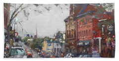 Rainy Day In Downtown Brampton On Hand Towel