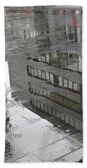 Rainy Morning In Mainz Hand Towel by Sarah Loft