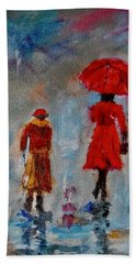 Rainy Spring Day Hand Towel by Sher Nasser
