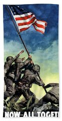 Raising The Flag On Iwo Jima Hand Towel