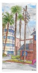 Raleigh Studios In Hollywood, California Hand Towel