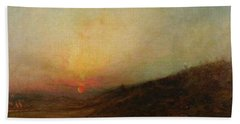 Ralph Albert Blakelock  1847  1919  Indian Encampment At Sunset Bath Towel