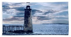 Ram Island Head Lighthouse.jpg Bath Towel