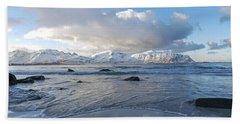 Ramberg Beach, Lofoten Nordland Hand Towel