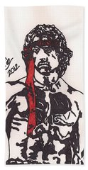 Rambo First Blood Part II Hand Towel by Jeremiah Colley