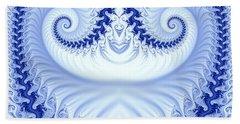 Ram's Horn Blue Hand Towel