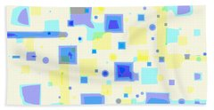 Bath Towel featuring the digital art Random Blips by Shelli Fitzpatrick