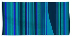 Random Stripes - Electric Blue Hand Towel