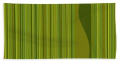 Random Stripes - Golden Green Bath Towel