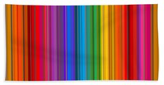 Random Stripes - Rainbow Stripe Bath Towel