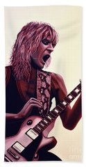 Randy Rhoads Hand Towel by Paul Meijering