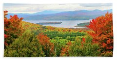 Rangeley Lake And Rangeley Plantation Hand Towel by Mike Breau
