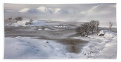 Rannoch Moor Winter Bath Towel
