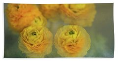 Ranunculus Bath Towel by Eva Lechner