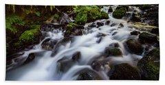 Rapids On Wahkeena Creek Bath Towel