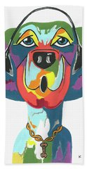 Rapping Rover - Funny  Dog Hand Towel