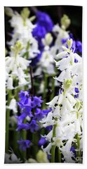 Hand Towel featuring the photograph Rare Bluebell Mix by Baggieoldboy