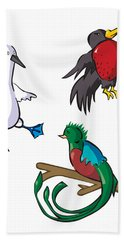 Rare Old Birds Bath Towel