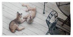 Wrestling Lynx Hand Towel