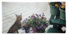 Swat The Petunias Hand Towel