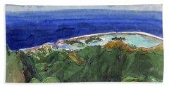 Rarotonga, View From Te Manga Bath Towel
