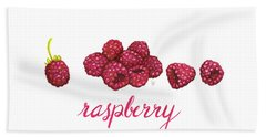 Hand Towel featuring the painting Raspberry by Cindy Garber Iverson