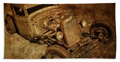 Rat Rod Bath Towel