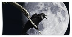 Raven Barking At The Moon Hand Towel