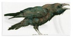 Raven Bird Hand Towel