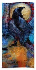 Raven Blue Hand Towel