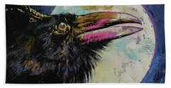 Raven Moon Hand Towel by Michael Creese