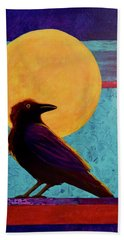 Raven Moon Bath Towel by Nancy Jolley