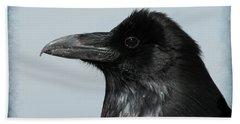 Raven Profile Hand Towel