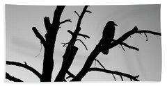 Raven Tree II Bw Hand Towel