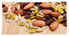 Raw Organic Nuts And Seeds Hand Towel