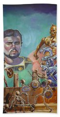Ray Harryhausen Tribute Jason And The Argonauts Bath Towel