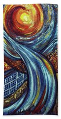 Hand Towel featuring the painting Ray Of Hope 3 by Harsh Malik