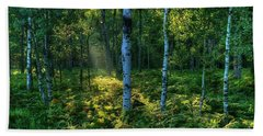 Rays In The Forest Hand Towel