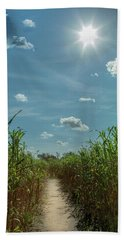 Hand Towel featuring the photograph Rays Of Hope by Karen Wiles