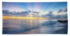 Hand Towel featuring the photograph Rays Over The Reef by Debra and Dave Vanderlaan